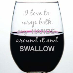 Personalized Written Wine Glass