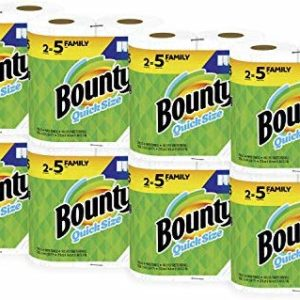 Bounty Quick-Size Paper Towels, White, Family Rolls, 16 Count (Equal to 40 Regular Rolls) image