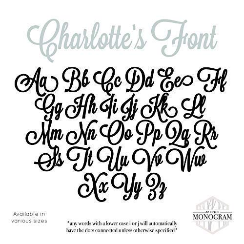 """Custom Personalized Wooden Name Sign 12-55"""" WIDE - CHARLOTTE Font Letters Baby Name Plaque PAINTED nursery name nursery decor wooden wall art, above a crib image"""