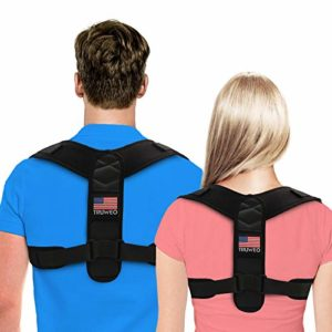 Posture Corrector For Men And Women - USA Designed Adjustable Upper Back Brace For Clavicle Support and Providing Pain Relief From Neck, Back and Shoulder (Universal) image