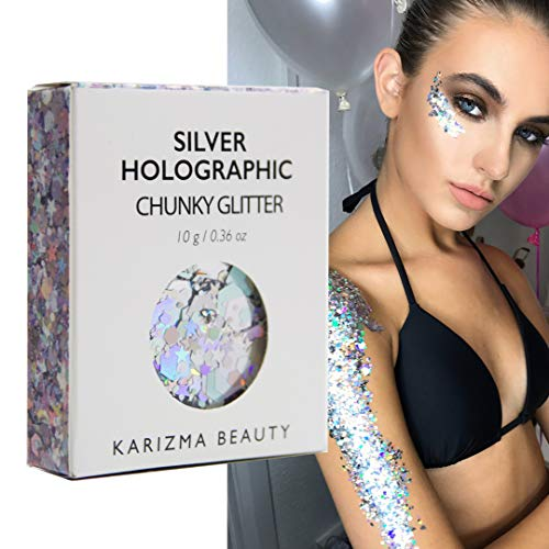 Silver Holographic Chunky Glitter