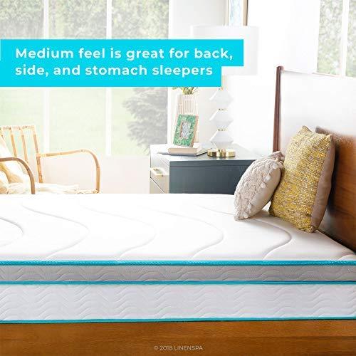 Linenspa 10 Inch Memory Foam and Innerspring Hybrid Mattress - Medium Feel - Twin image