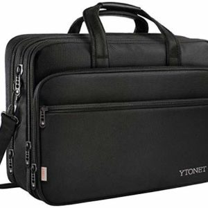 17 inch Laptop Bag, Travel Briefcase with Organizer, Expandable Large Hybrid Shoulder Bag, Water Resisatant Business Messenger Briefcases for Men and Women Fits 17 15.6 Inch Laptop, Computer, Tablet image