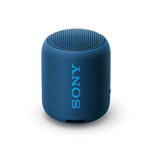 Sony SRS-XB12 Mini Bluetooth Speaker: Loud Extra Bass Portable Wireless Speaker with Bluetooth - Small Waterproof and Dustproof Travel Music Speakers - Blue - SRS-XB12/L