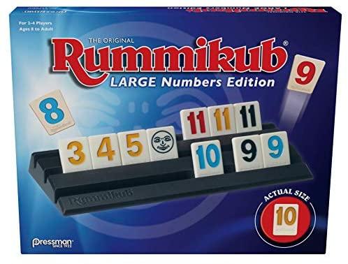 Pressman Rummikub Large Numbers Edition – The Original Rummy Tile Game
